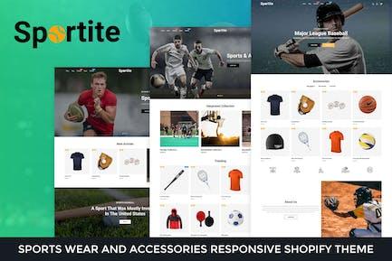 Sportite - Спортивная одежда и аксессуары Shopify Тема