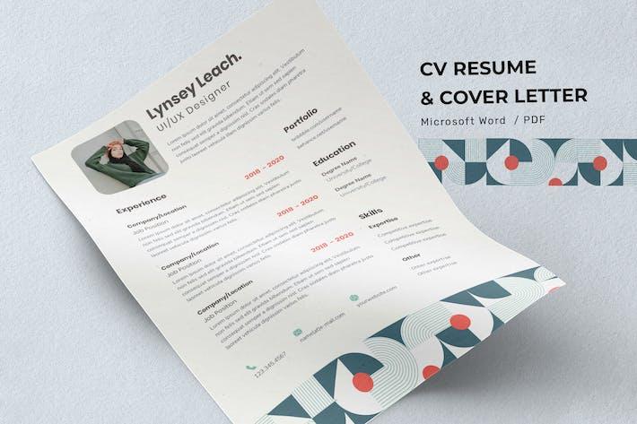 Thumbnail for Lynsey Leach - CV Resume Template