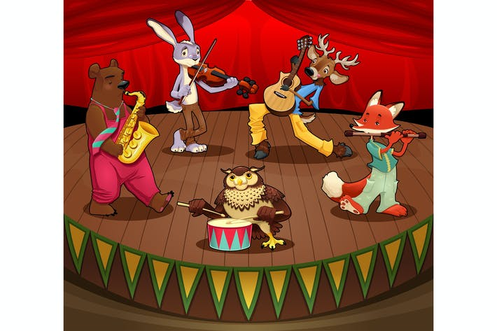Thumbnail for Musician Animals on Stage