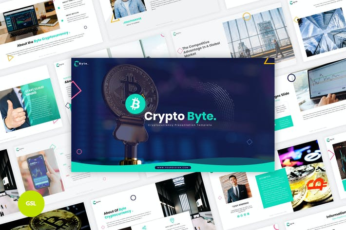Thumbnail for Byte - Cryptocurrency Google Slides Template
