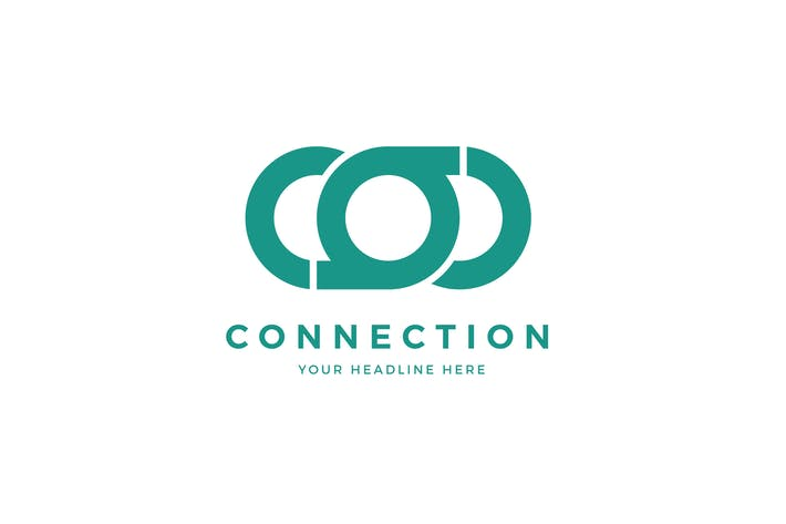Cover Image For Connection Logo C O Letter Template