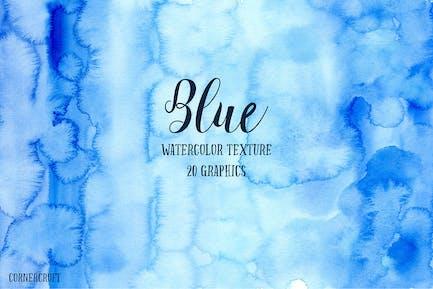 Acuarela Textura Azul