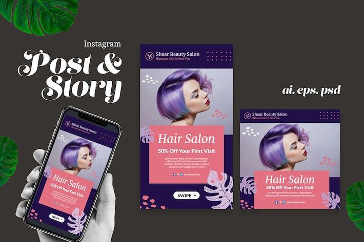Hair Salon Instagram Post Story