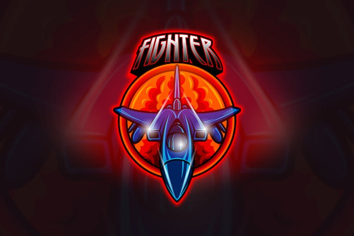 Cover Image For Jet Fighter - Mascot & Esport Logo
