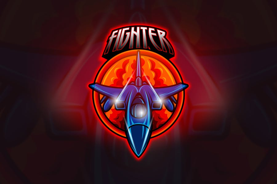 Jet Fighter - Mascot & Esport Logo