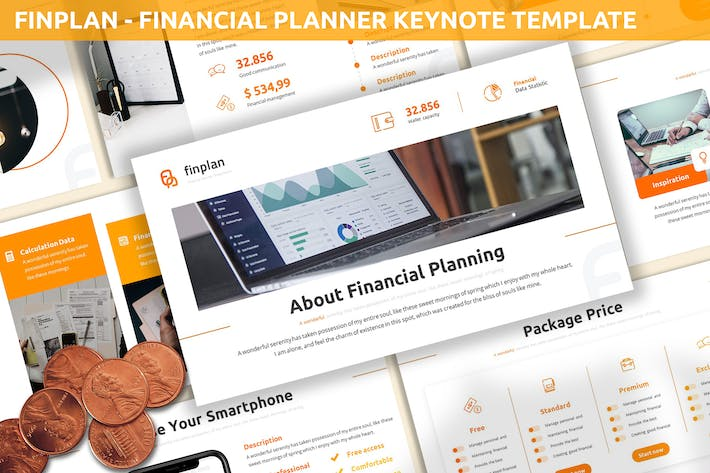 Thumbnail for Finplan - Financial Planner Keynote Template