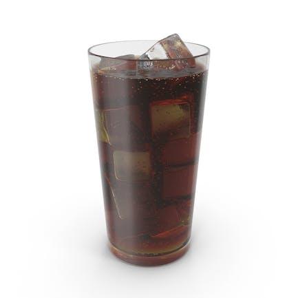 Vidrio con Cola y Hielo