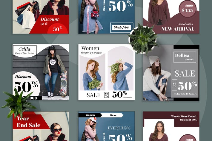 Thumbnail for Fashion Promo Social Media Kit