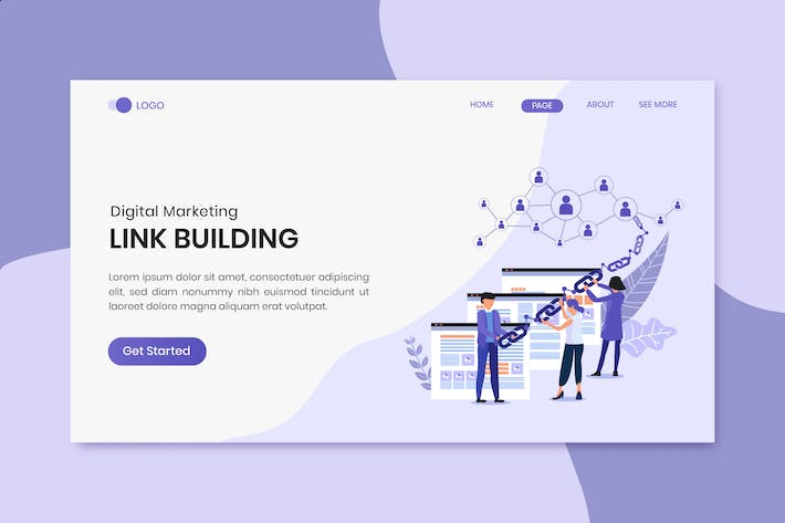 Thumbnail for Link Building Marketing Landing Page