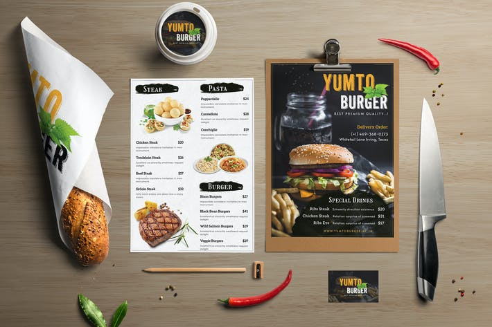 Thumbnail for Restaurant Food Menu Template