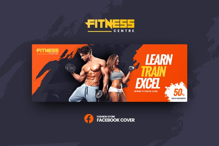Thumbnail for Fitness Facebook Cover Template