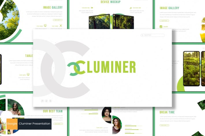 Thumbnail for Cluminer - Google Slides Template