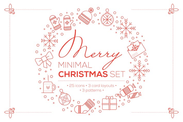 Thumbnail for Merry Minimal Christmas Set