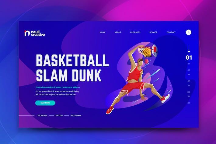 Thumbnail for Basketball Sport Web PSD und AI Vektor Vorlage