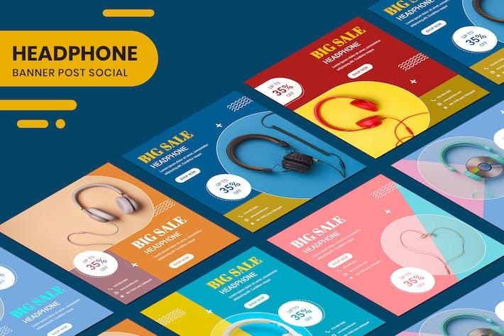 Thumbnail for Headphone Modern Banner Instagram Stories