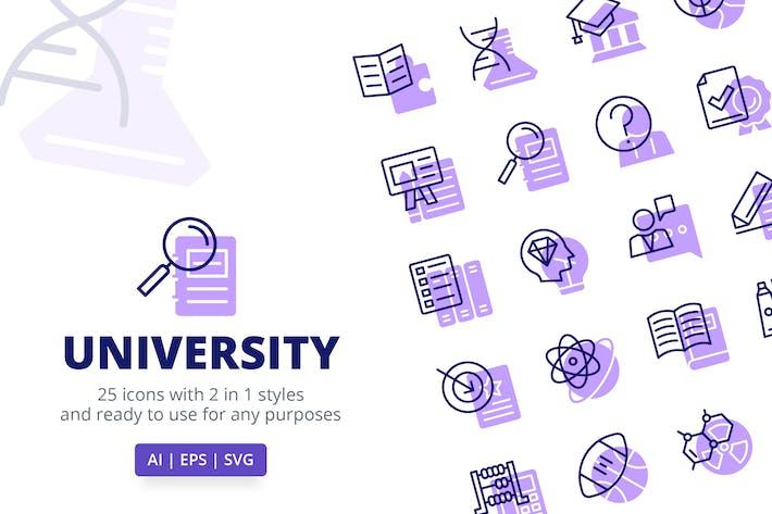 UniversitätsIcons (Linie und Solid)