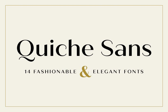 Thumbnail for Quiche Sans Font Family