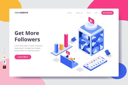 Get More Followers - Landing Page