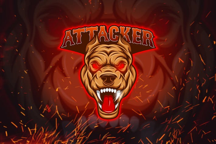 Thumbnail for Attacker - Esport Mascot Logo