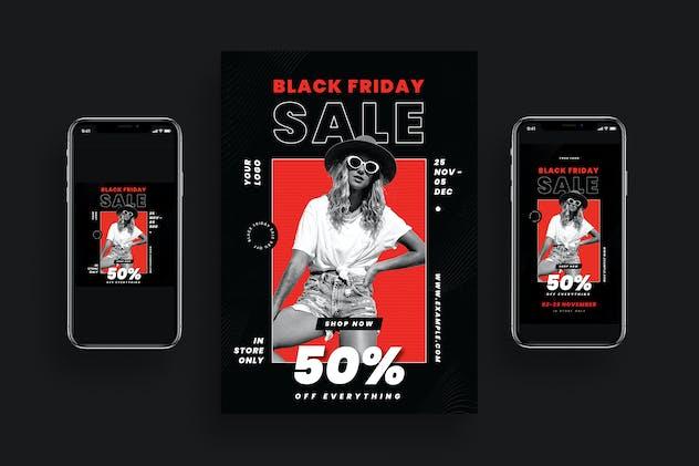 Black Friday Sale Flyer + Social Media