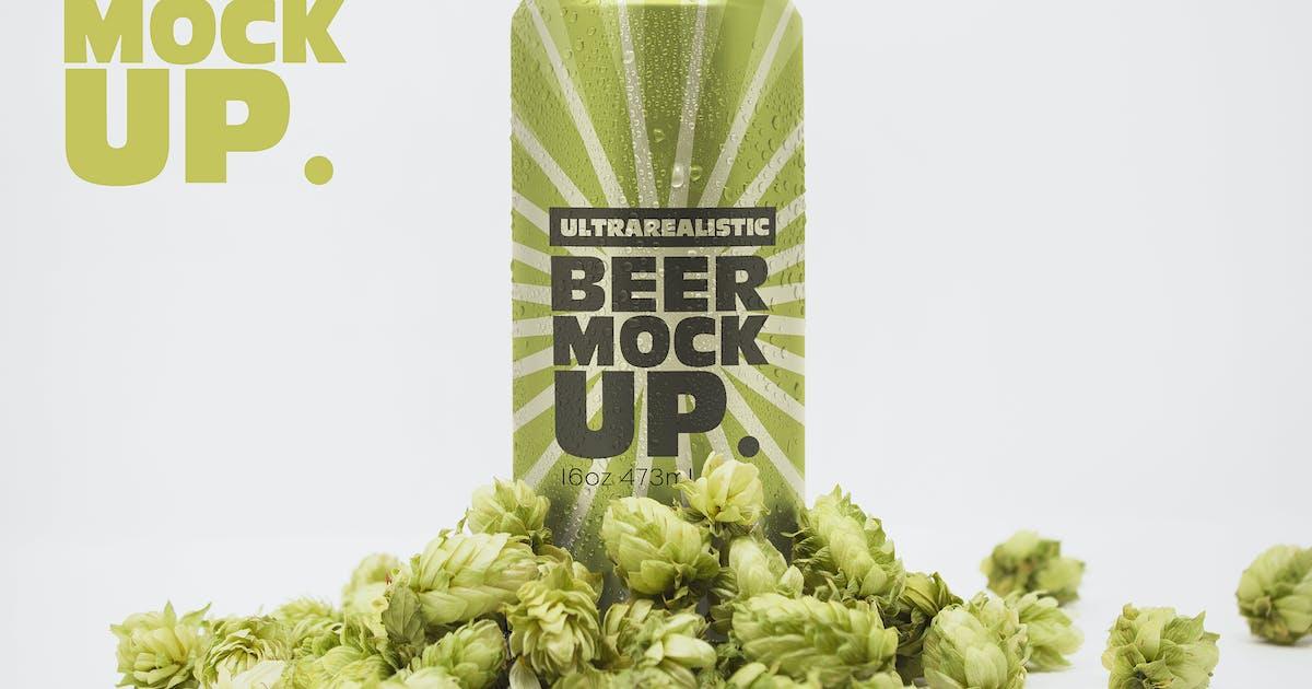 Download Front 16oz Beer Can Mockup Vol.2 by SmartDesigns_eu