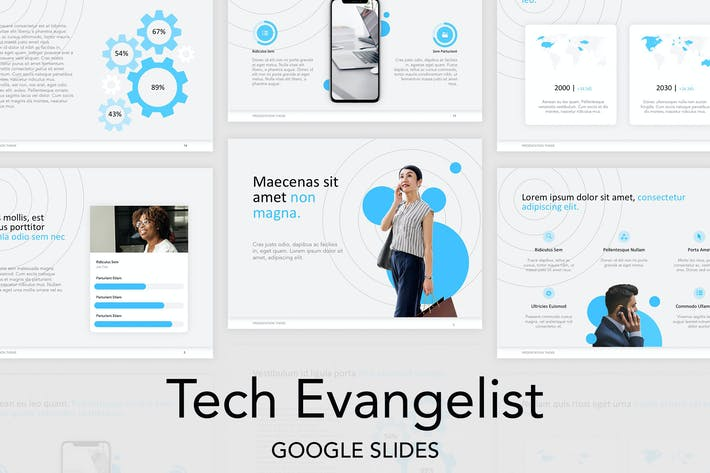 Thumbnail for Tech Evangelist Google Slides