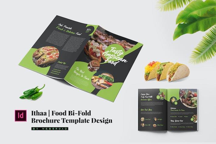 Thumbnail for Ithaa | Food Bi-Fold Brochure Modèle Design