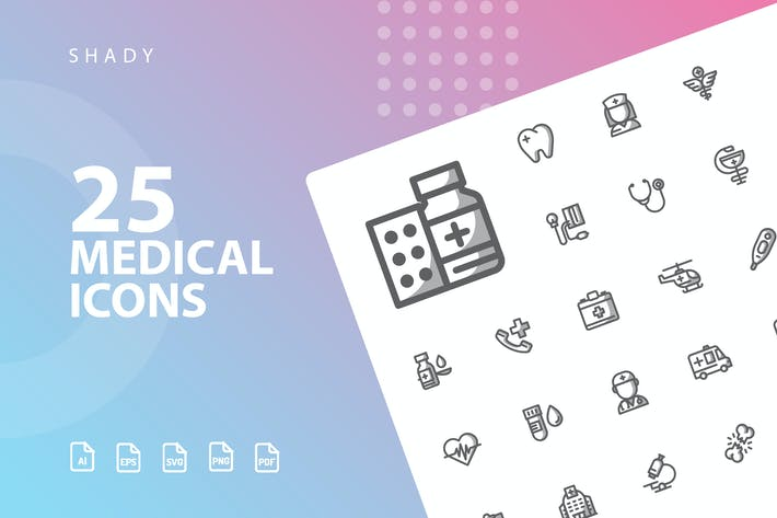Thumbnail for Medical Shady Icons