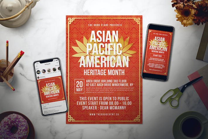 Thumbnail for Asian Pacific American Heritage Month Flyer Set
