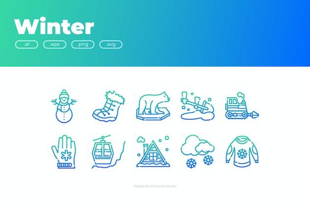 30 Winter Icons - GRADIENT