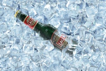 Frozen Beer Bottle Mockup
