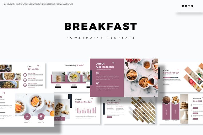 Завтрак - Шаблон Powerpoint
