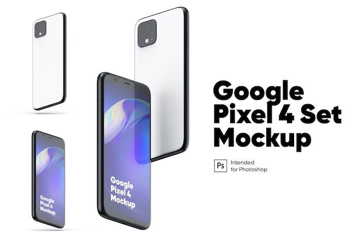 Thumbnail for Google Pixel 4 Set Mockups