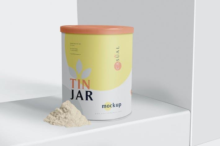 Thumbnail for Tin Jar Mockups