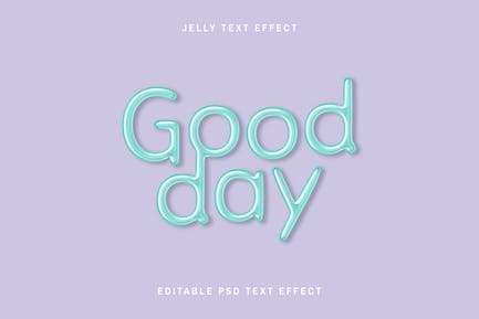 Editable jelly embossed text effect
