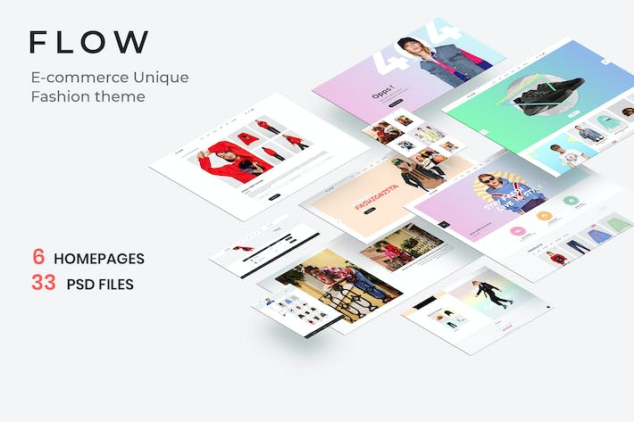 Thumbnail for Flow - Clean, Minimal Store PSD Template