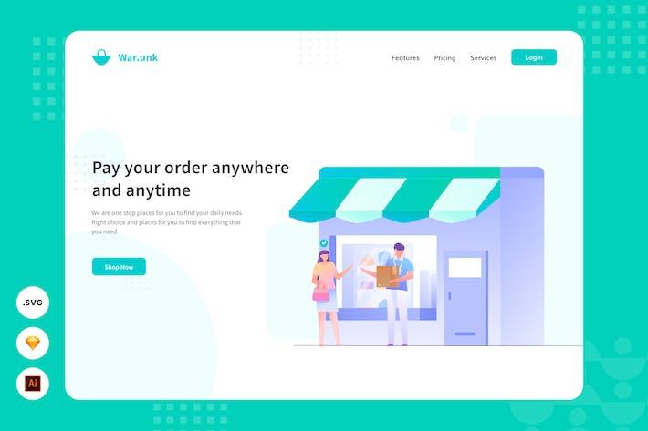 Thumbnail for Pay Easily - Website Header - Illustration
