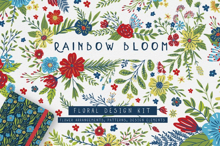 Thumbnail for Rainbow Bloom Floral Design Kit