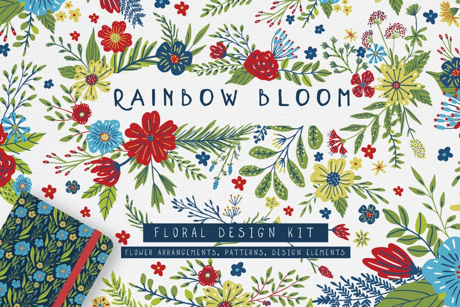 Rainbow Bloom Floral Design Kit
