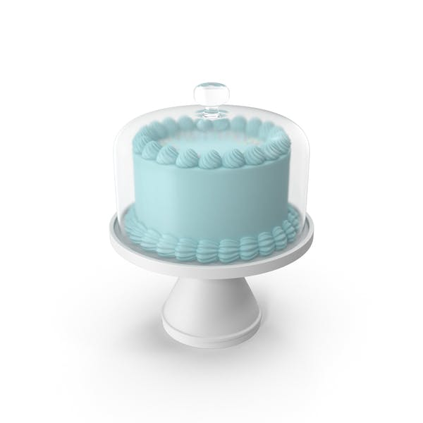 Thumbnail for Blue Cake with Glass Dome