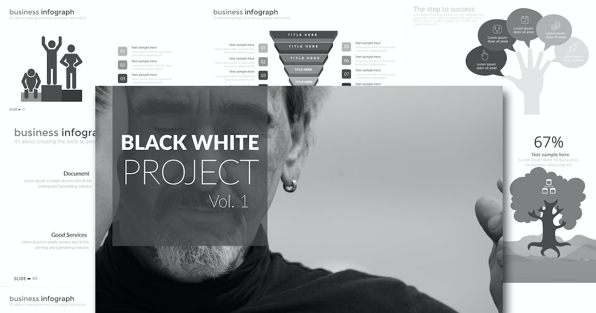 Download Black White Project Vol. 1 Powerpoint by Unknow