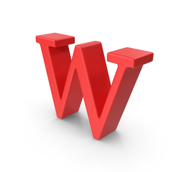 Red Small Letter W