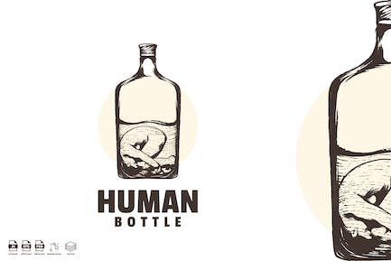 abstract human bottle