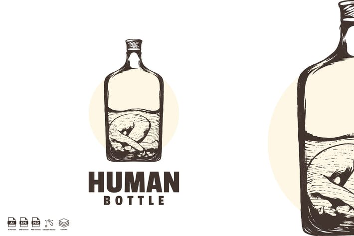 Thumbnail for abstract human bottle