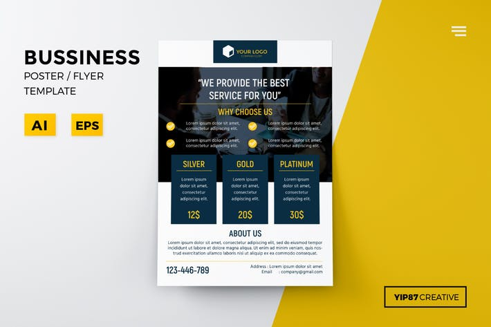 Cover Image For Business Pricing Flyer