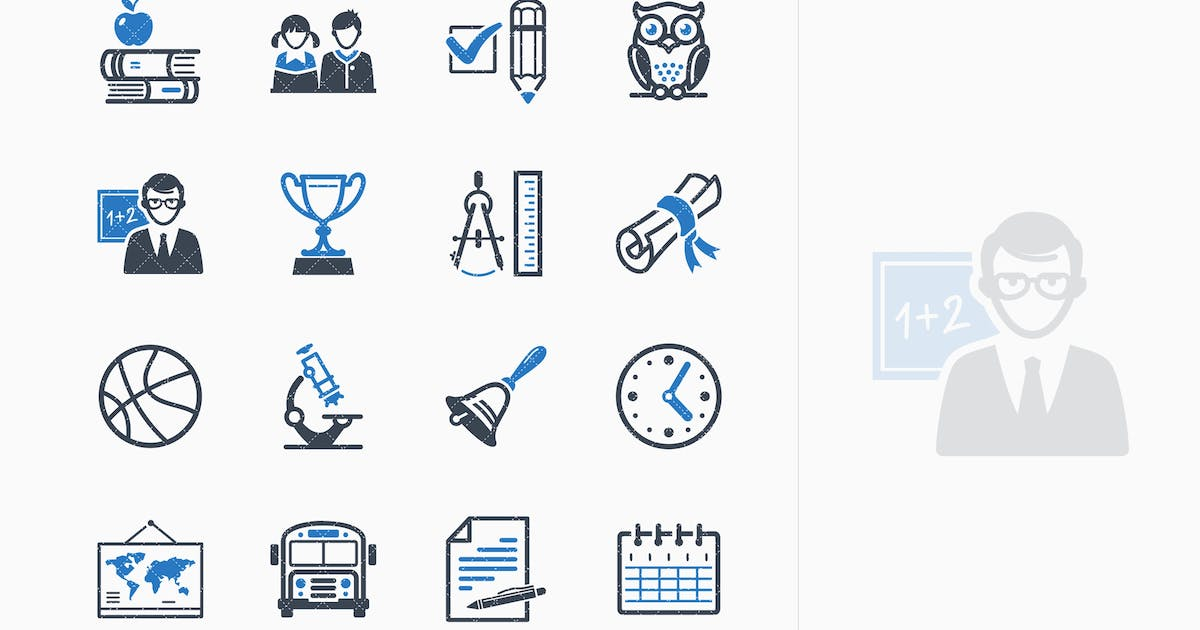Download Education Icons Set 3 - Blue Series by introwiz1