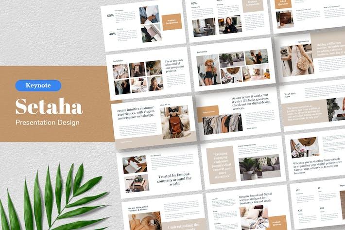 Thumbnail for Setaha - Keynote Шаблон презентации