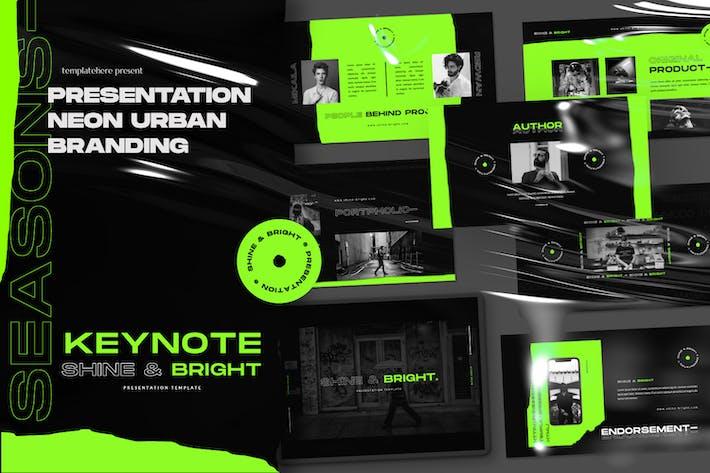 Thumbnail for Shine & Bright Business Dark Keynote