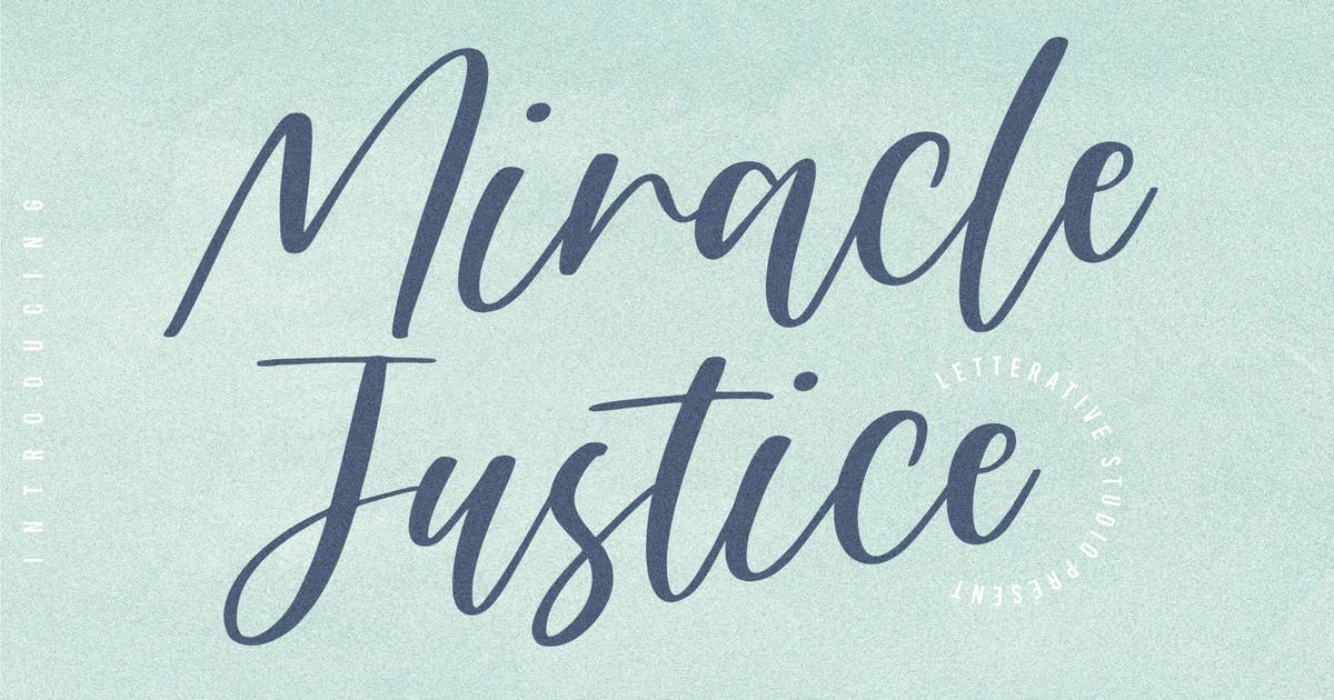 Download Miracle Justice Script Font YH by GranzCreative