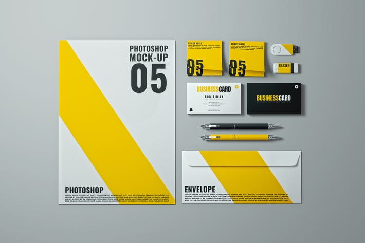 Thumbnail for Stationery Mock-Up Template